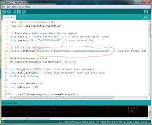 ربات در تلگرام برای ESP8266